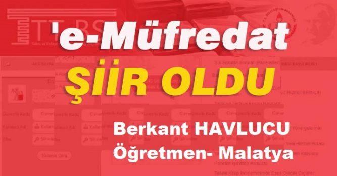 E- MÜFREDAT ŞİİRİ